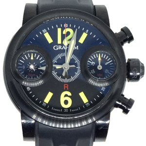 Auth Graham 2SWASB.B20A.K06B Automatic Casual Watch SWORD FISH Black Night Yellow