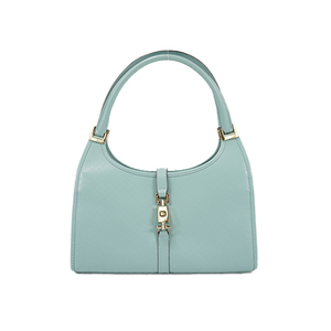 Auth Gucci Jackie Shoulder Bag Light Blue Silver
