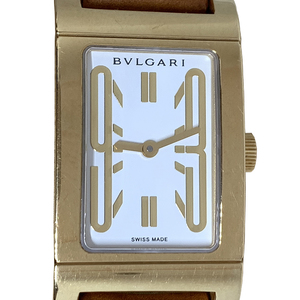 Auth Bvlgari Rettangolo Quartz Yellow Gold (18K) Casual Watch RT39G