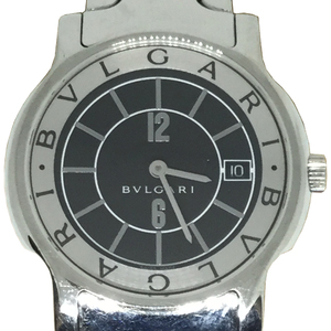 Auth Bvlgari Solotempo Quartz Stainless Steel Men's Dress Watch ST35S
