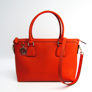 Gucci 449659 Women's Leather Handbag Orange