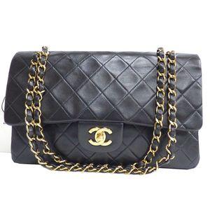 Chanel Matelassé Classic Flap Medium A01112 Women's Leather Shoulder Bag Black