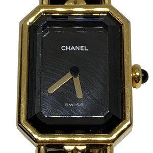 Auth Chanel Premiere Size M Quartz Gold Plated Women's Dress Watch