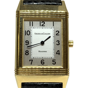 Auth Jaeger LeCoultre Reverso Quartz Yellow Gold Casual Watch 250.1.08