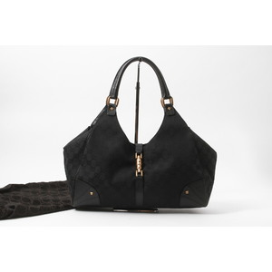 Gucci GG Canvas 124404 ニュージャッキー ブラック GG Canvas Tote Bag Black