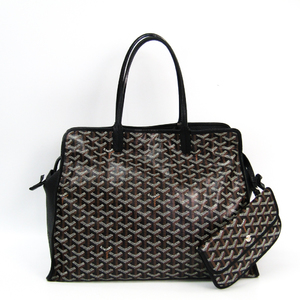 Goyard HARDY PM Unisex Canvas,Leather Tote Bag Black