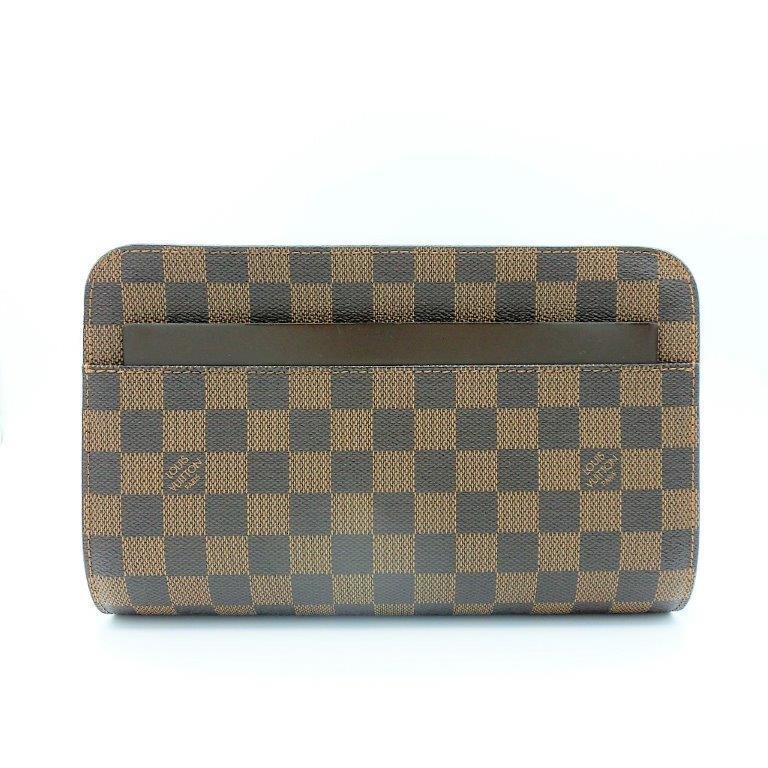ed6b83006104 Louis Vuitton Damier Saint Louis Women s Clutch Bag Ebene Used