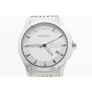 Gucci G-Timeless Men's Watch 126.4 G-タイムレス シルバー
