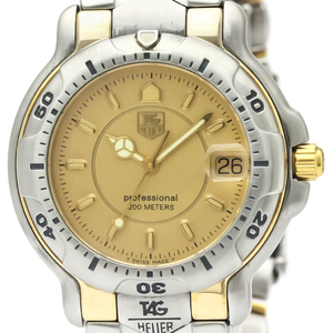 【TAG HEUER】タグホイヤー 6000 プロフェッショナル 200M K18 ゴールド ステンレススチール クォーツ メンズ 時計 WH1153