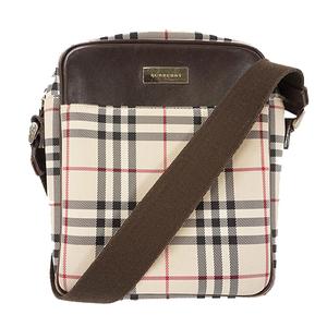 Auth Burberry Shoulder Bag Canvas Beige Beige