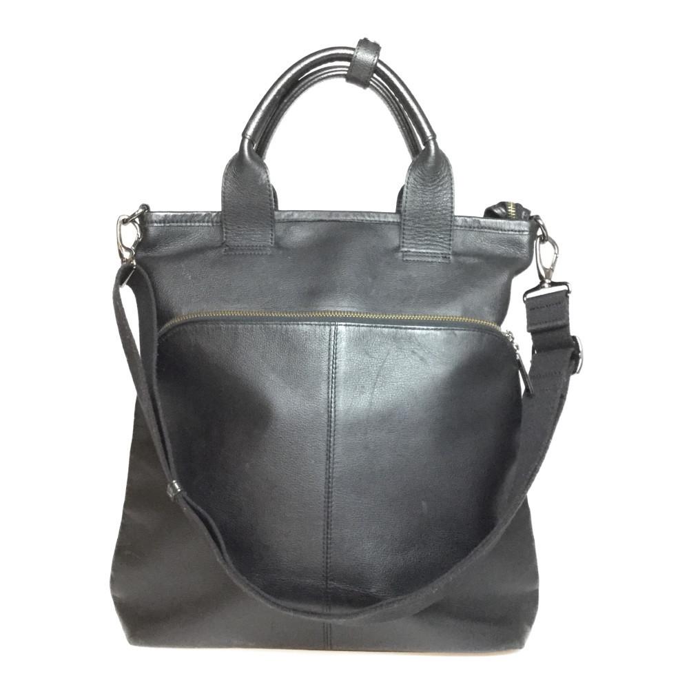 Auth Burberry 2way Bag Leather Shoulder Bag Handbag Black