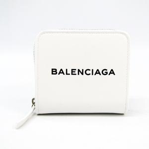 Balenciaga 490618 Unisex Leather Wallet (bi-fold) White