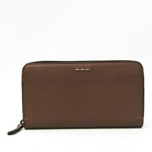 Fendi 7M0210 Women's Leather Long Wallet (bi-fold) Brown