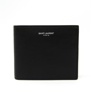 Saint Laurent 396303 Men's Leather Wallet (bi-fold) Black