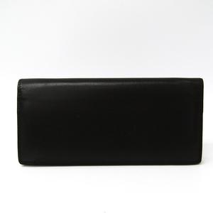 Valextra V8L42 Men's  Calfskin Long Wallet (bi-fold) Dark Brown