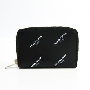 Balenciaga 490622 Women's Leather Coin Purse/coin Case Black