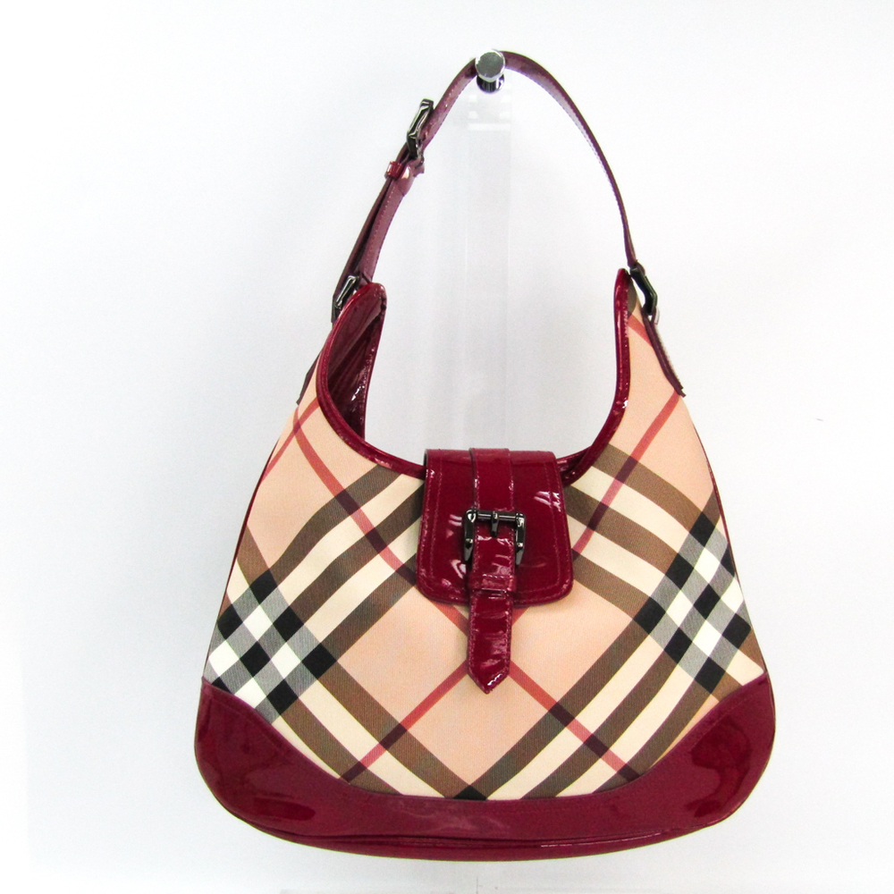 Burberry 3744053 Women's PVC Shoulder Bag Beige,Red