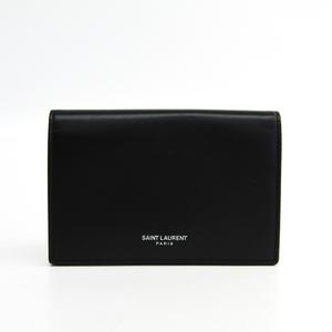 サン・ローラン(Saint Laurent) 466414 メンズ  カーフスキン 財布(二つ折り) ブラック
