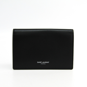 Saint Laurent 466414 Men's  Calfskin Wallet (bi-fold) Black