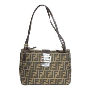 Auth Fendi Zucca 2348 26728 Handbag,Shoulder Bag Brown