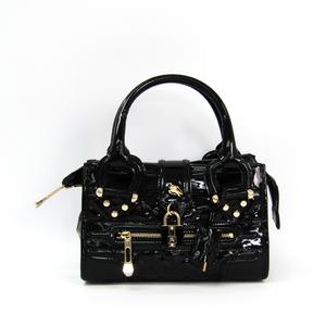 Burberry Women's Patent Leather Handbag Black