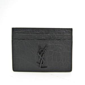 Saint Laurent 485631 Leather Card Case Black