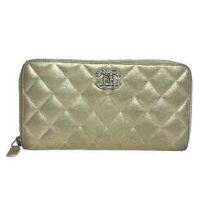 シャネル(Chanel) A80003 マトラッセ チェーンミー ラウンドファスナー 長財布(二つ折り) メタリックゴールド