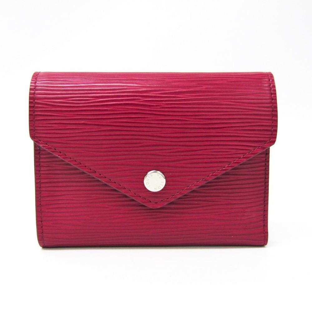 Louis Vuitton Epi Portefeuille Victorine M62171 Women S Epi Leather Wallet Tri Fold Fuchsia Elady Com