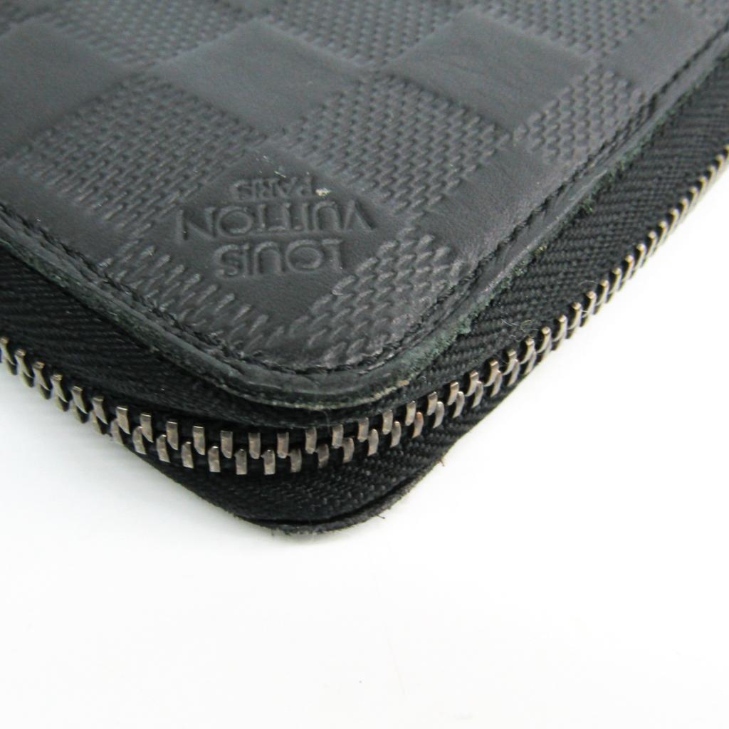 outlet store d3746 9ef74 Details about Louis Vuitton Damier Zippy Wallet Vertical N63548 Men's  Leather Long Wa BF335252