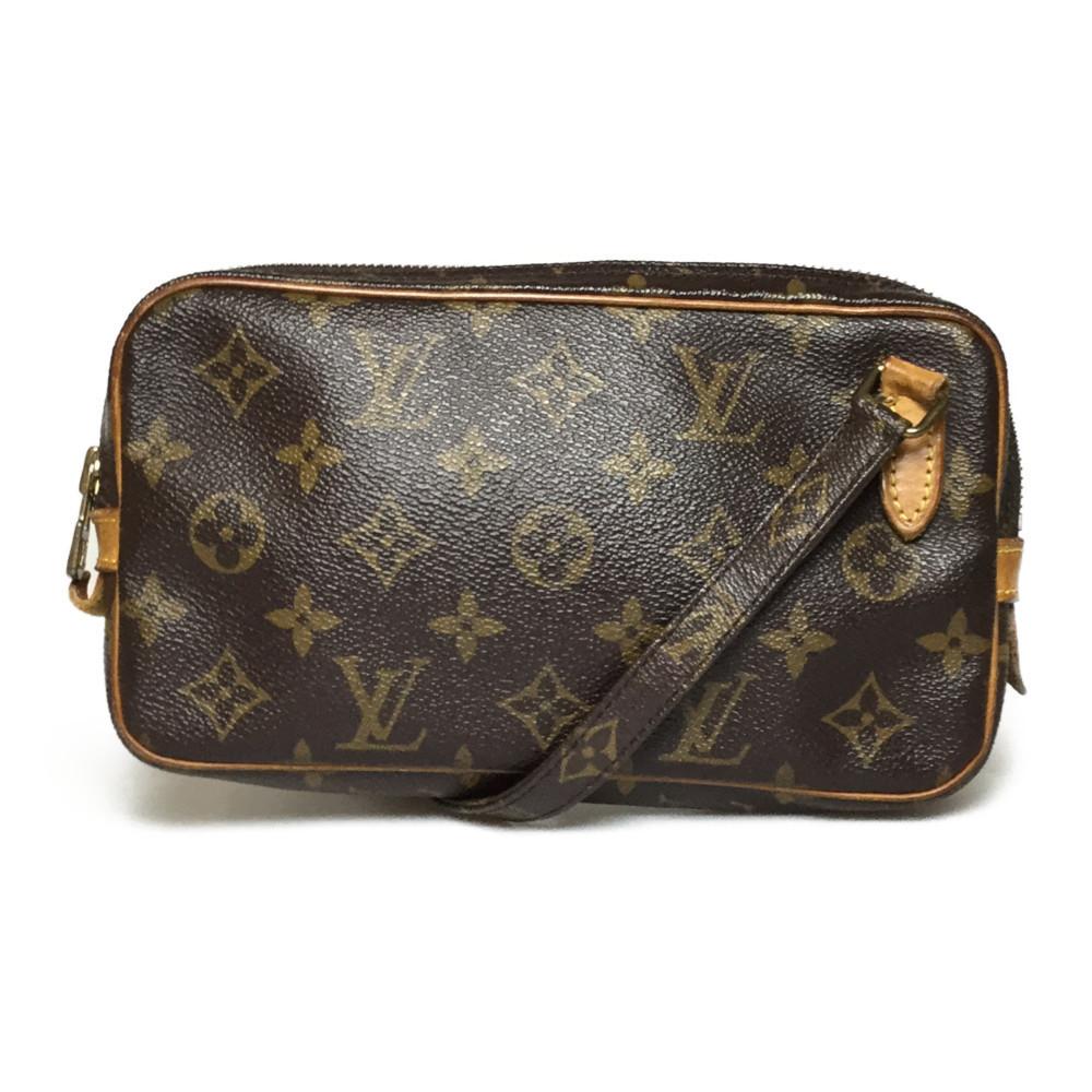 Auth Louis Vuitton Monogram M51828 Marley Bandriere Women's Shoulder Bag
