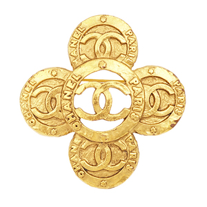 シャネル(Chanel) ココ ココマーク メッキ ゴールドブローチ ブローチ