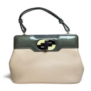 22ab36b5ec5c Auth Bvlgari 2Way bag Isabella Rosselini Enamel Leather Handbag