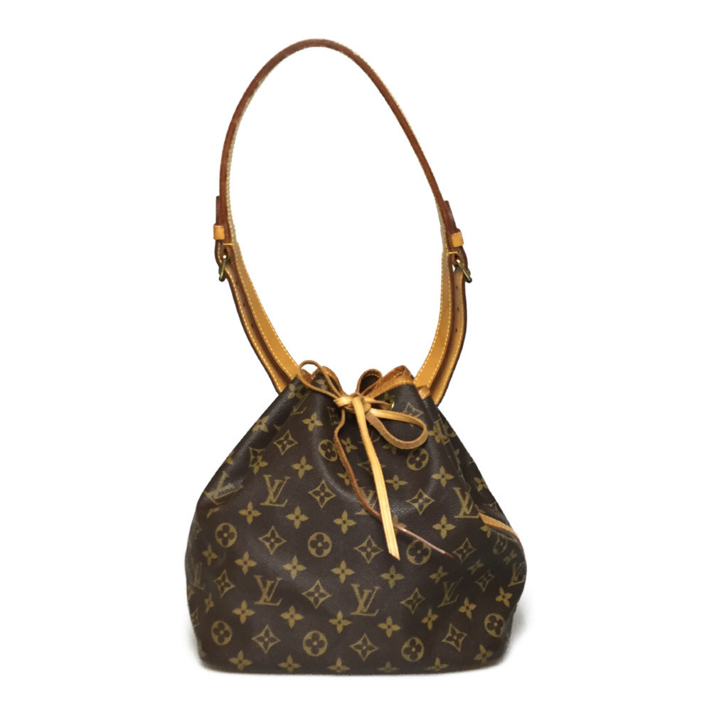 Auth Louis Vuitton Monogram M42226 Petitte noe Women's Shoulder Bag
