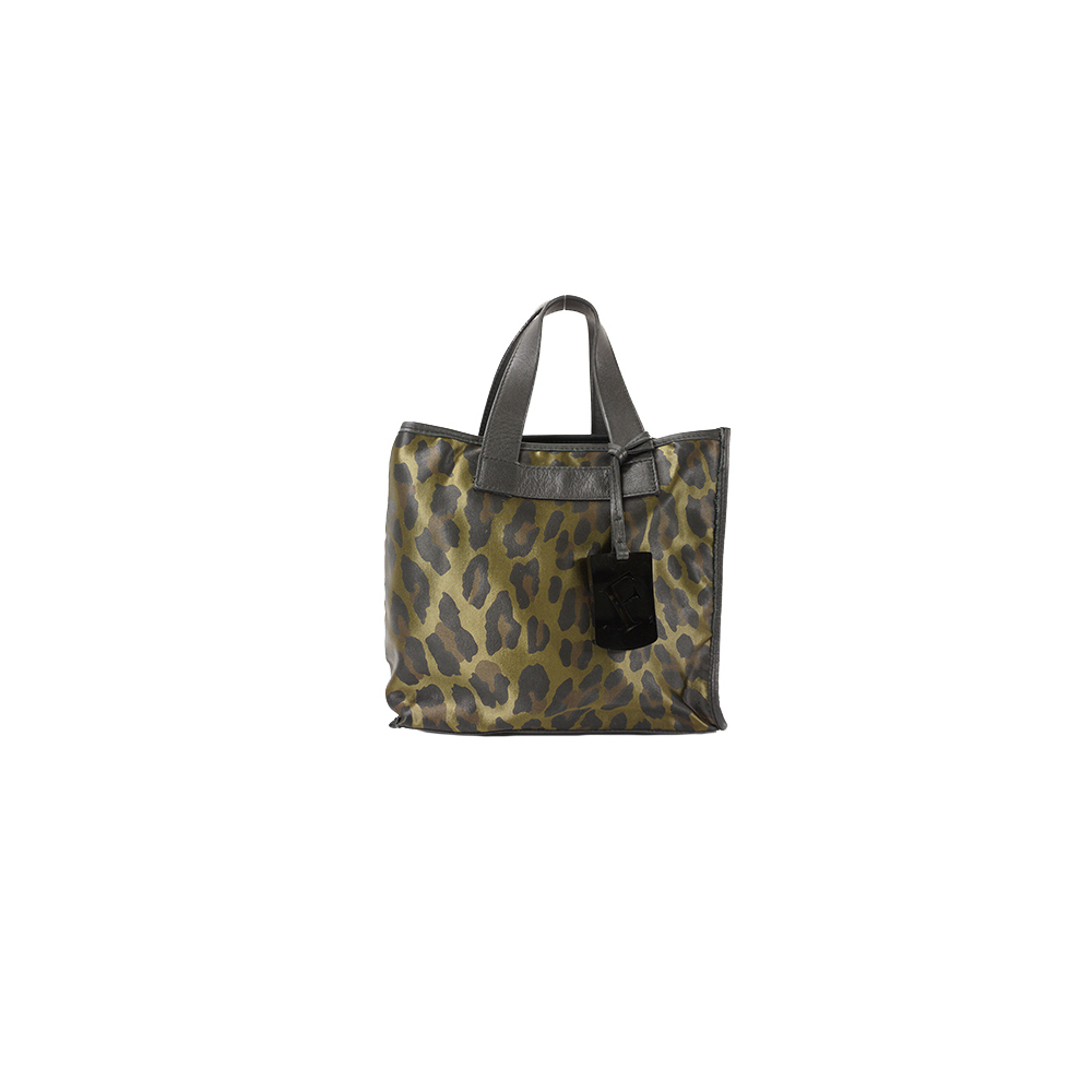 Auth Furla Handbag Nylon Black,Green