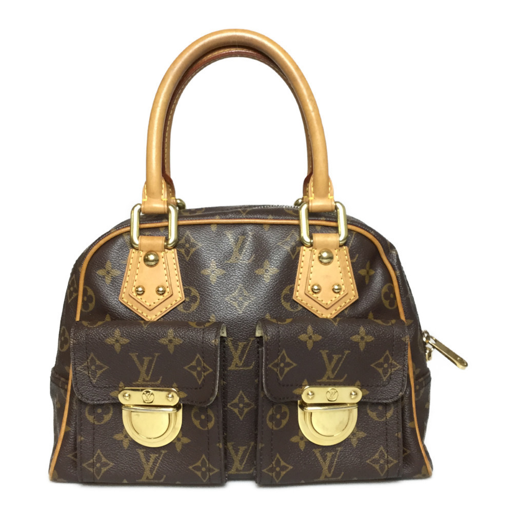 Auth Louis Vuitton Monogram M40026 Manhattan PM Women's Handbag