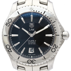 TAG HEUER Link Calibre 5 Steel Automatic Mens Watch WJ201A