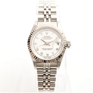 Rolex Datejust Automatic Stainless Steel,White Gold (18K) Women's Dress Watch 69174