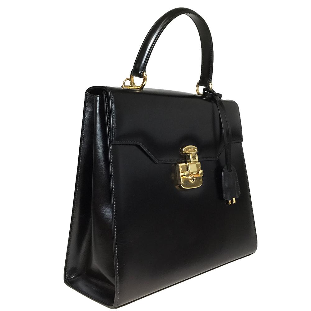 9c1b8097bf06 Auth Gucci 2way Bag Handbag Shoulder Bag Black 000 926 0192 Leather ...