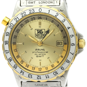 Tag Heuer Airline Quartz Gold Plated,Stainless Steel Men's Sports Watch 895.413