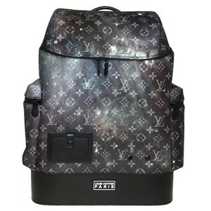 Auth Louis Vuitton M44174 Monogram Galaxy Alpha Backpack Black
