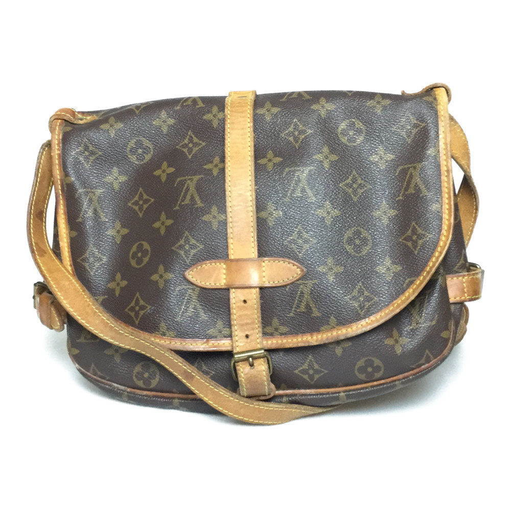Auth Louis Vuitton Monogram M42256 Saumur 30 Shoulder Bag