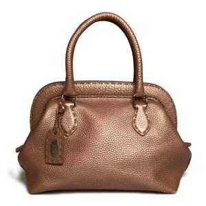 Auth Fendi Selleria N49-22-16548 Leather Handbag Pink