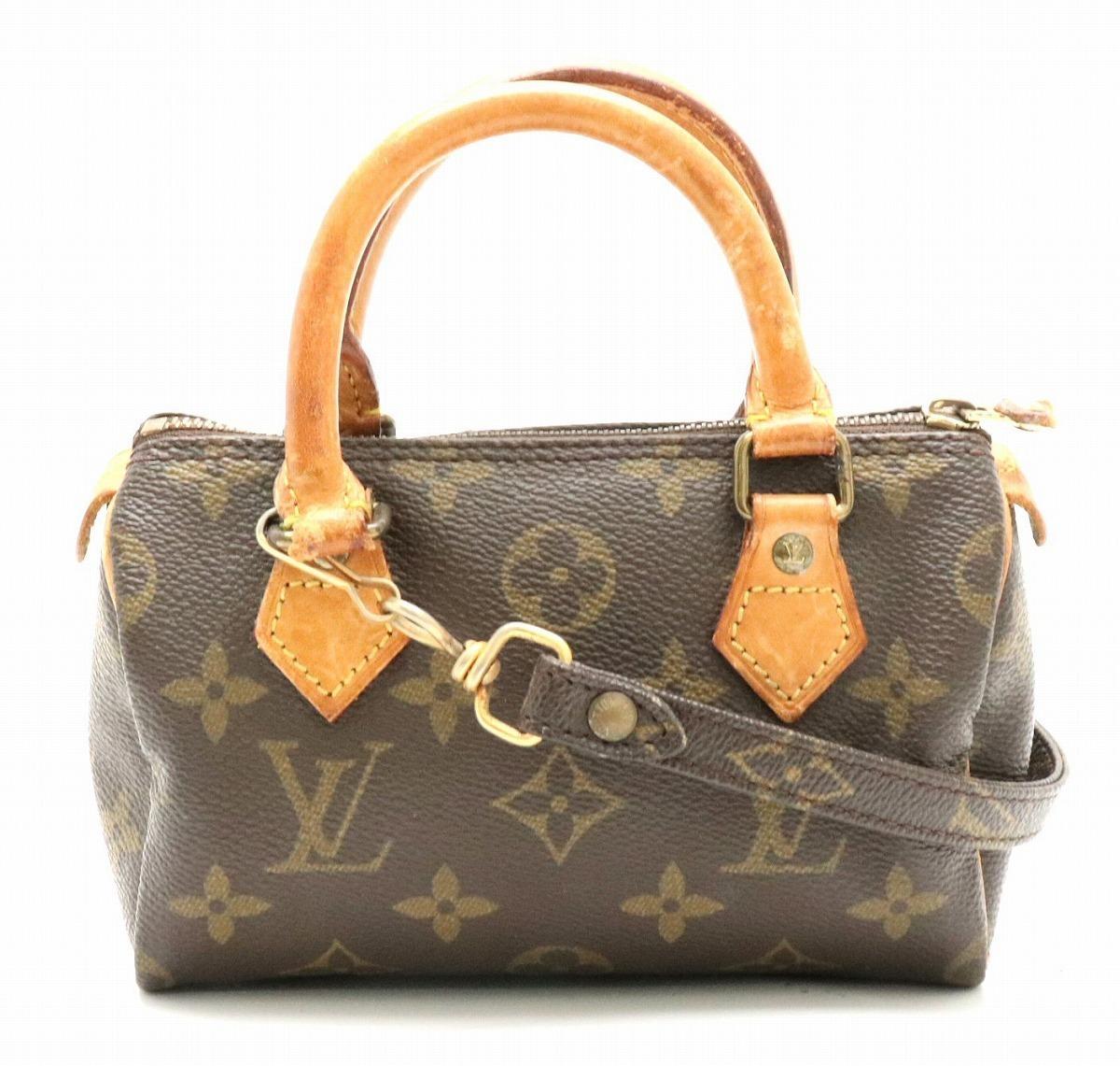 d92ae3dac973 Louis Vuitton Monogram Mini Speedy 2 Way Handbag