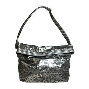 シャネル(Chanel) アンリミテッド A46534 2WAY ナイロン ハンドバッグ,ショルダーバッグ シルバー,ブラック