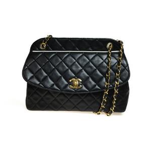 Auth Chanel Matelasse Shoulder Bag Black