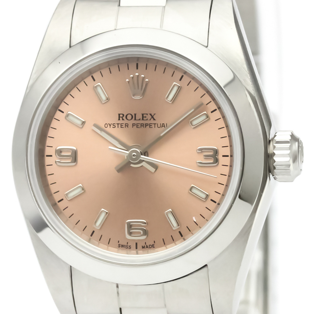 ROLEX Oyster Perpetual 76080 Steel Automatic Ladies Watch