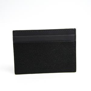 Salvatore Ferragamo 660972 Leather Card Case Charcoal Gray,Black