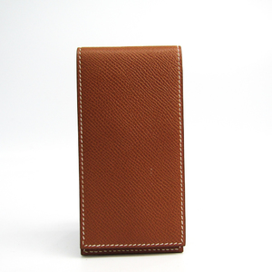 Hermes Courchevel Leather Notebook Gold Notepad cover