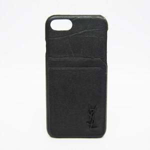 Saint Laurent Leather Phone Case For IPhone 7 Black 534430
