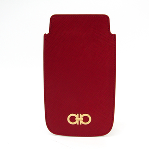 Salvatore Ferragamo Leather Phone Pouch/sleeve For IPhone 6 Plus Red 22 C430